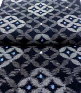 七宝菱形藍染