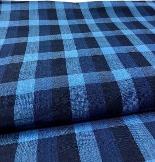 藍染めチェック8立