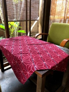 麻の葉赤1m×2巾仕上げ