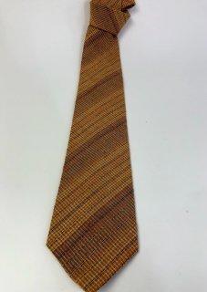 ネクタイ すかし織りキン茶