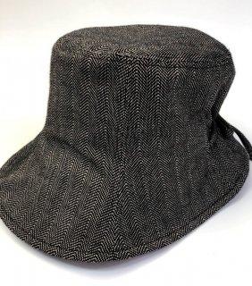 女性帽子 ヘリンボーンベージュ