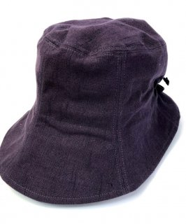 女性帽子 なす紺