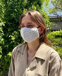 夏マスク(からみ織り長ドット)