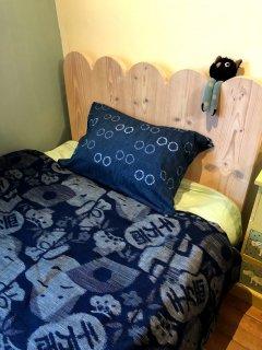 枕カバー2連リングブルー