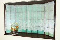 出窓用カーテン ナチュラルフラワー ストレートタイプの出窓用アウトレットカーテン