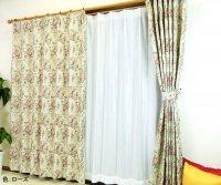 激安アウトレット既製カーテン|ジャガード織ゴブラン花柄 既製ドレープカーテン [ザルツブルグ]