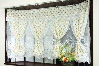 出窓カーテン 2重カーテン セパレーツカーテン [フリーダム] クリーム ベージュ 小花柄 送料無料