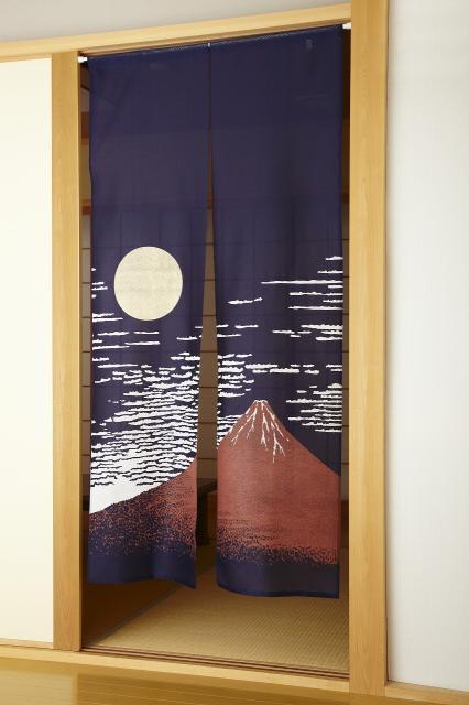 和風のれん 赤富士 縁起物暖簾|日本製のお土産品にもどうぞ!