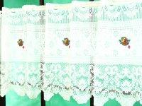 激安オーダーカフェカーテン フルーツ柄刺繍 50cm丈 幅41サイズ カフェカーテン通販