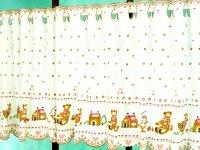 激安オーダーカフェカーテン コットンベア柄 50cm丈 幅41サイズ カフェカーテン通販