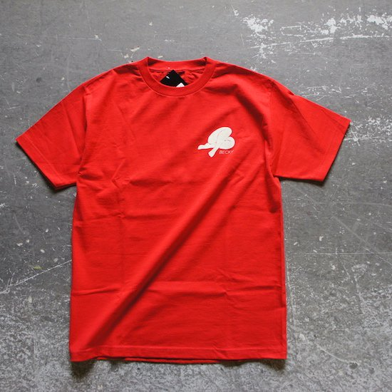 【Becky Factory】LOGO TEE Shirts - RED