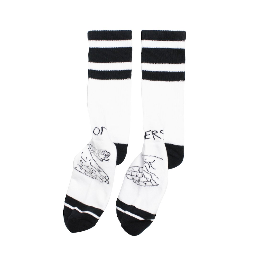 【DOOM SAYERS】Snake Shake Socks - White/Black