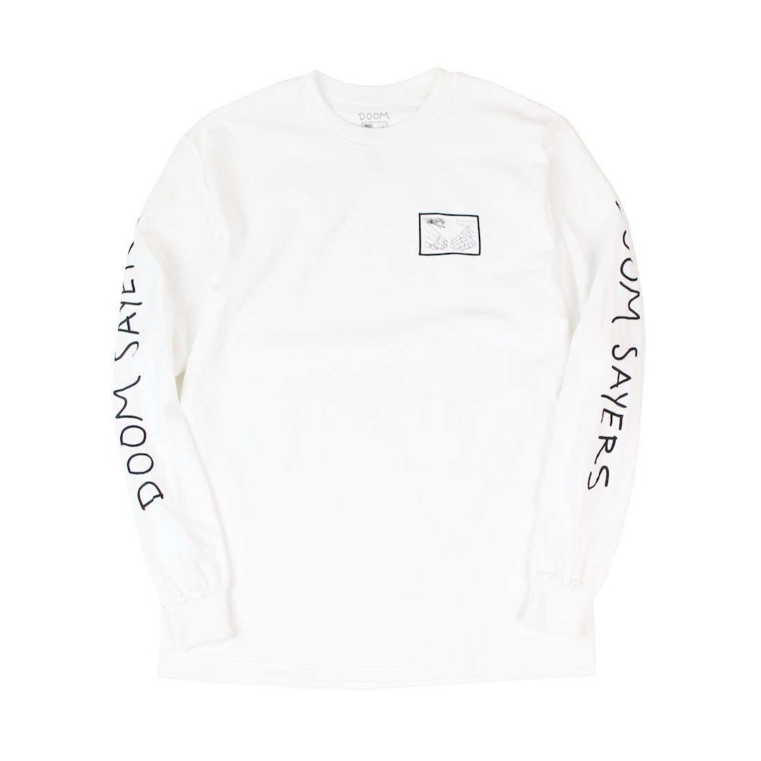 【DOOM SAYERS】Inside Out Snake Shake L/S Tee - White
