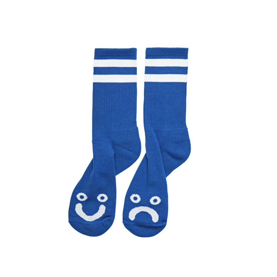 【POLAR SKATE CO.】Happy sad socks - Blue