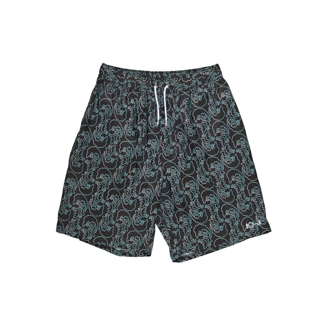 【POLAR SKATE CO.】Art Swim Shorts - Black
