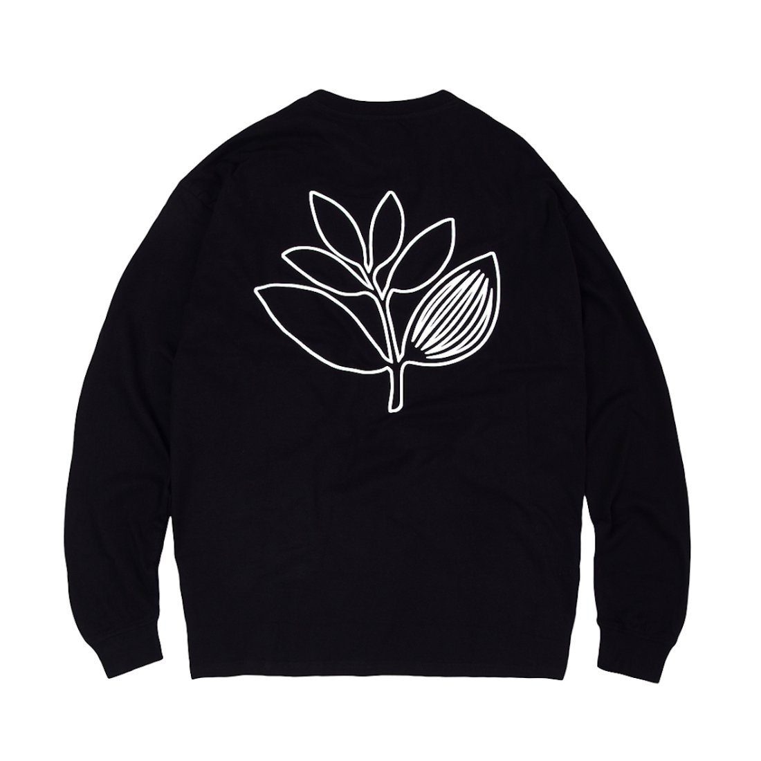 【Magenta Skateboards】Plant Outline L/S Tee - Black/White