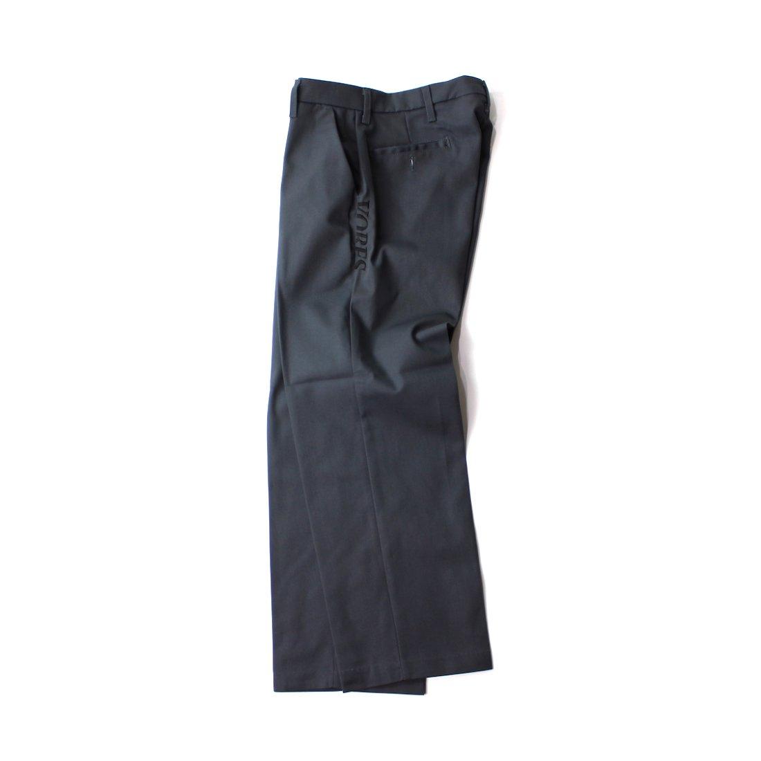 【VORES】Harf Cut Logo Work Pants - Charcoal