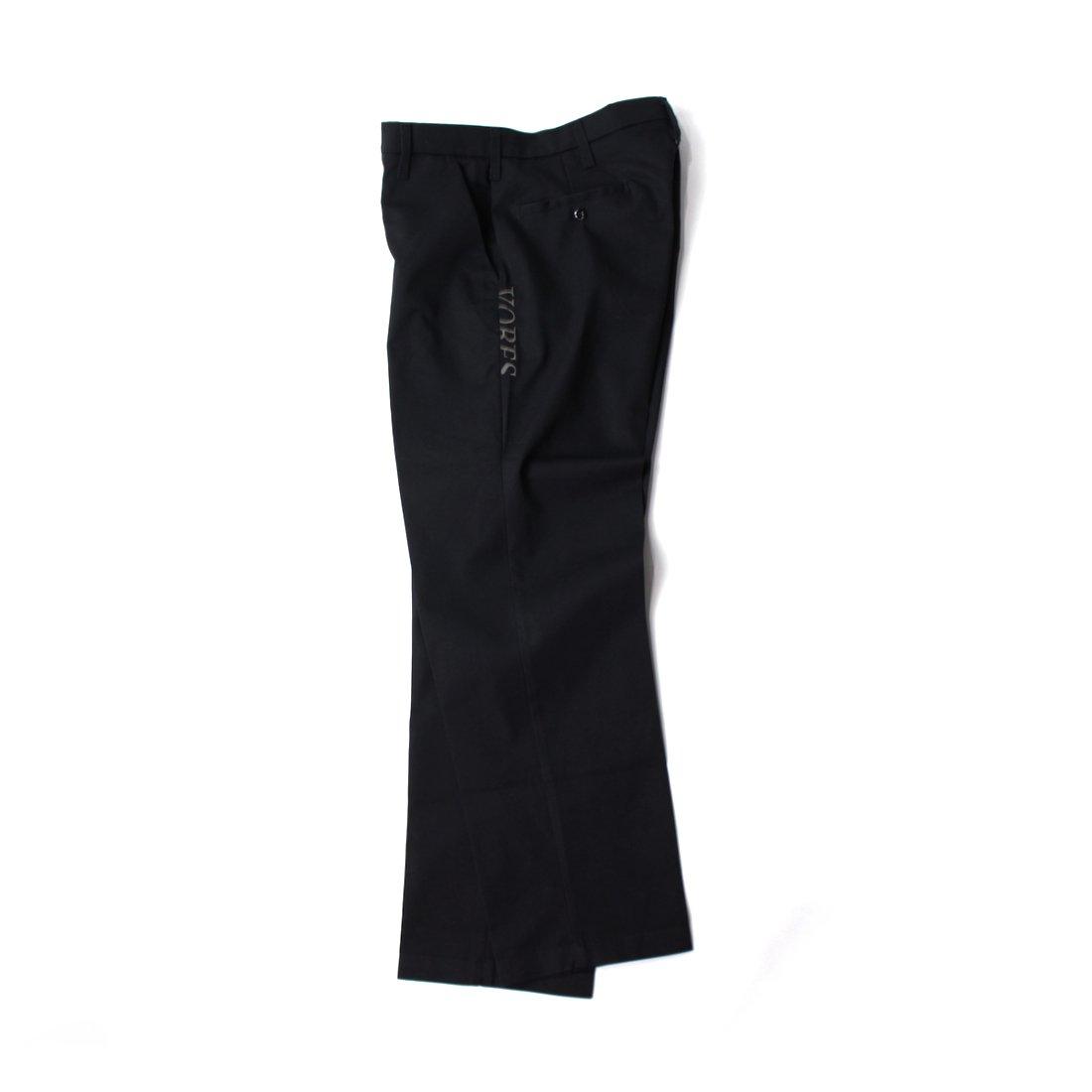 【VORES】Harf Cut Logo Work Pants - Black