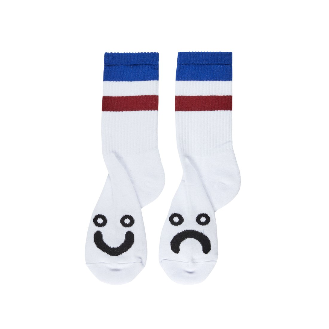 【POLAR SKATE CO.】Happy sad socks - Stripes Blue