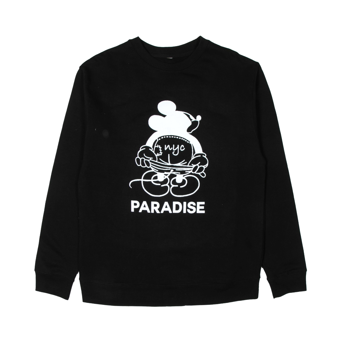 【PARADIS3】Mickey Moon Crew Sweat - Black