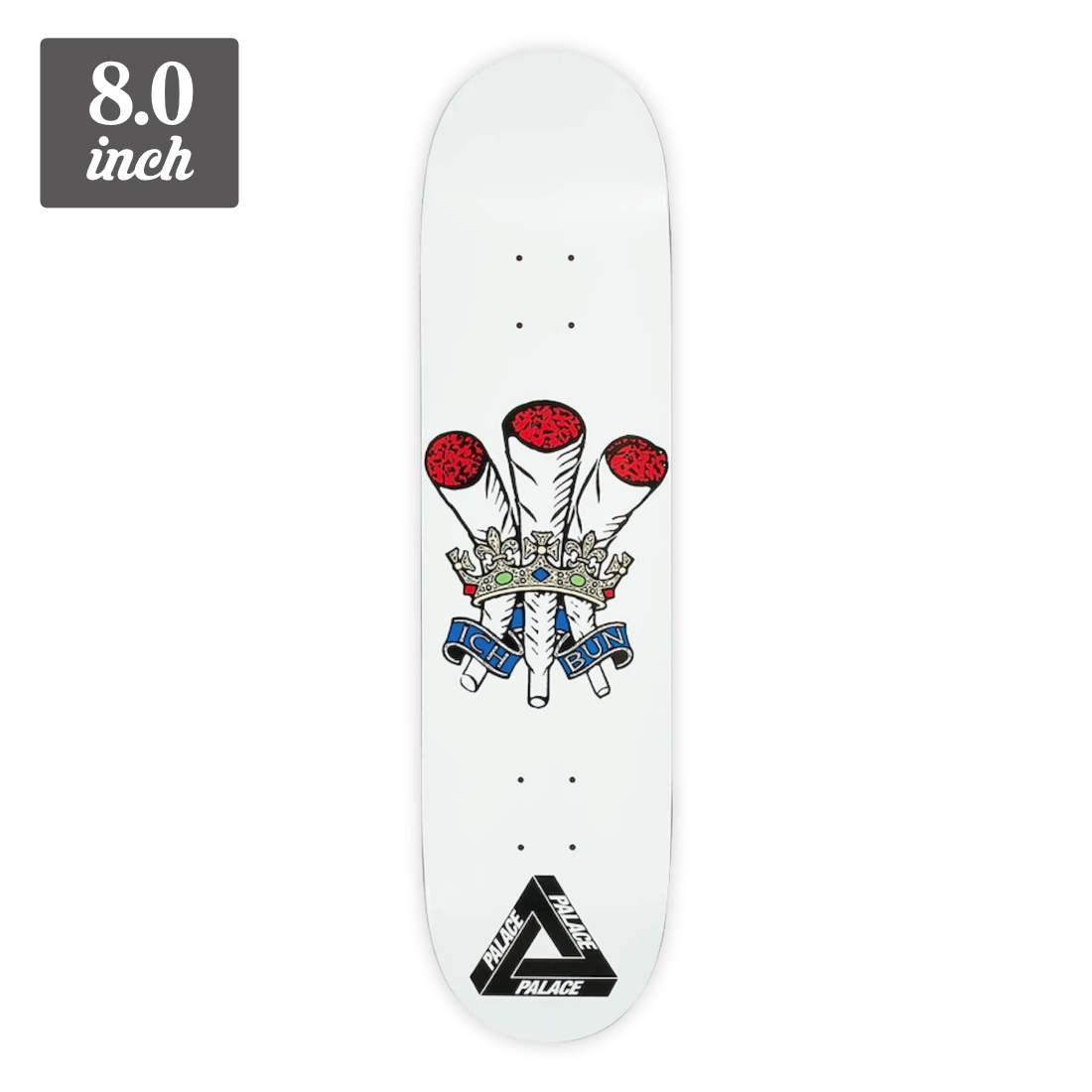 【8.0】Palace Skateboards - Ich Bun White