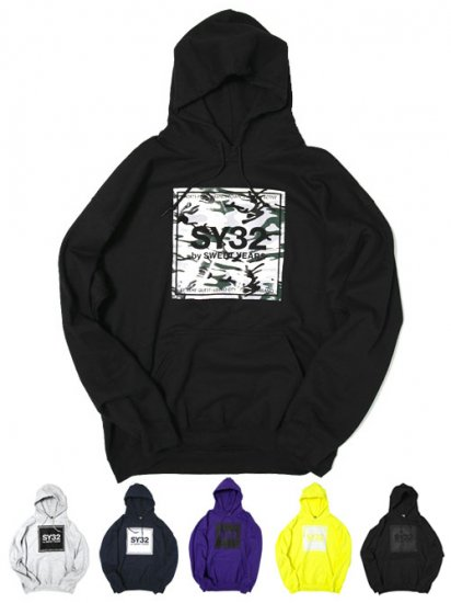 <img class='new_mark_img1' src='https://img.shop-pro.jp/img/new/icons14.gif' style='border:none;display:inline;margin:0px;padding:0px;width:auto;' />【SY32】SQUARE LOGO P/O HOODIE