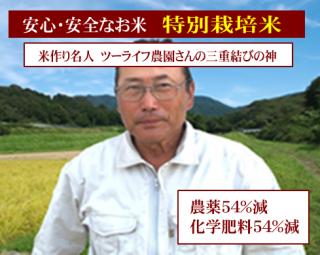 令和元年度産 ツーライフ農園さんの 特別栽培米 結びの神(農薬54%減・化学肥料54%減)1kg