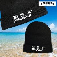 BONHEUR イニシャルニット帽