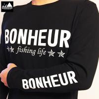 左腕BONHEURロングT-shirt ブラック