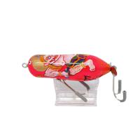 筆FXXX RIC/蛍光ピンク和柄 雷神ゴールドラメ