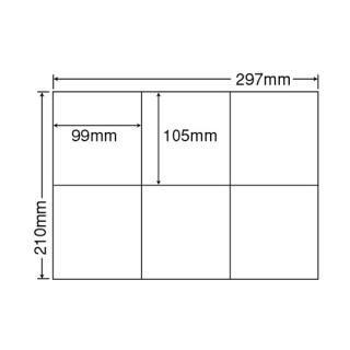 【6面】 ナナラベル C6G A4サイズ