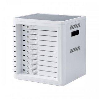サンワサプライ iPad・タブレット収納個別鍵付きキャビネット(10台収納) CAI-CAB31W