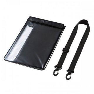 サンワサプライ タブレット防水防塵ケース(スタンド付き・ショルダーベルト付き・10.1型) PDA-TABWPST10BK