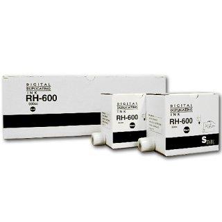 【リコー・エディシス・ミノルタ対応】 RH600(RH-600) インク 黒 20本 汎用品