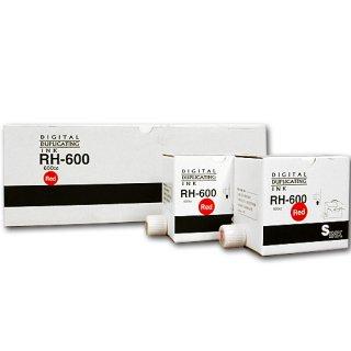 【リコー・エディシス・ミノルタ対応】 RH600(RH-600) インク 赤 5本 汎用品