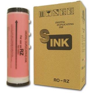 【リソー/デュプロ対応】RO-RZ インク 赤 6本 汎用品