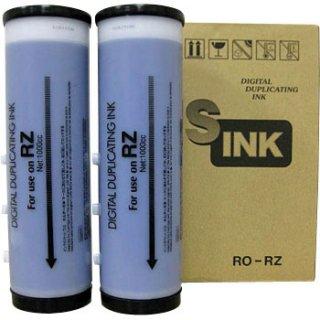【リソー/デュプロ対応】RO-RZ インク ミディアムブルー 6本 汎用品