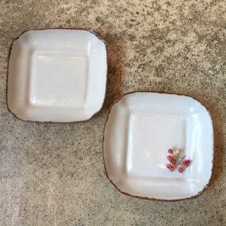 【益子焼 渡辺キエ】小皿 正方形