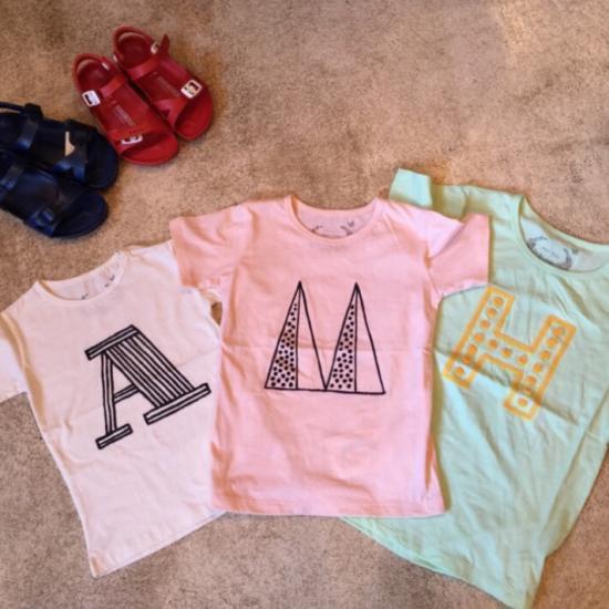【MuuMuu ムームー】アルファベットTシャツ
