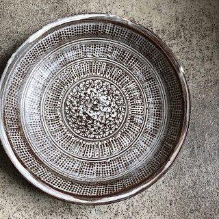 【井上 茂 】印花三島 7寸鉢
