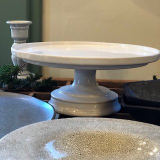 【高台皿】白