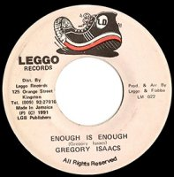 "Gregory Isaacs / Enough Is Enough (7"")"