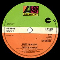 "SISTER SLEDGE / LOST IN MUSIC / THINKING OF YOU (7"")"