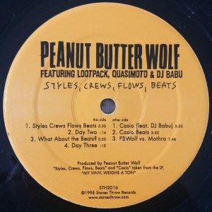 Peanut Butter Wolf / Styles, Crews, Flows, Beats (12