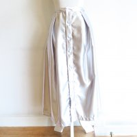 FWK by Engineered Garments Tuck Skirt - Polyester Sateen (SILVER)