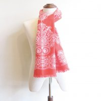 South2 West8    Stole    Cotton Gauze  -  Target & Paisley  (RED)