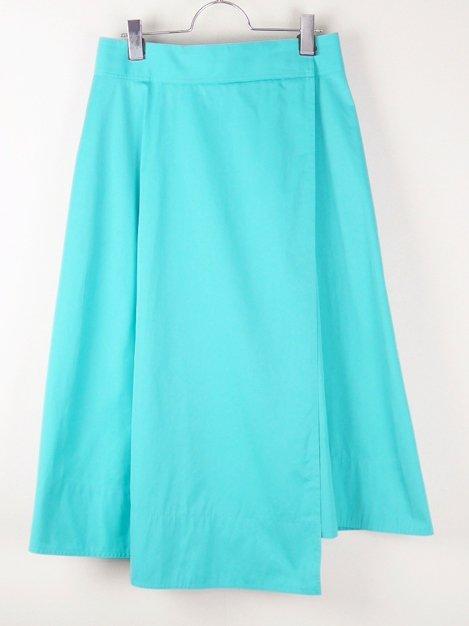 17SS ロングフレアースカート ターコイズ