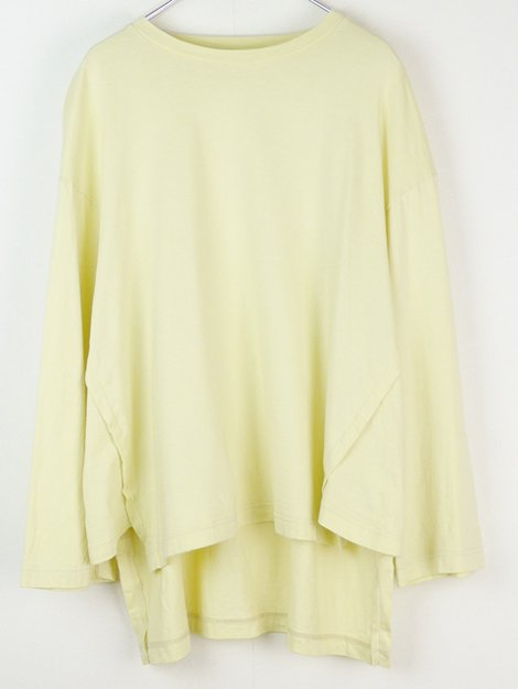19SS サイドガゼットロングTシャツ