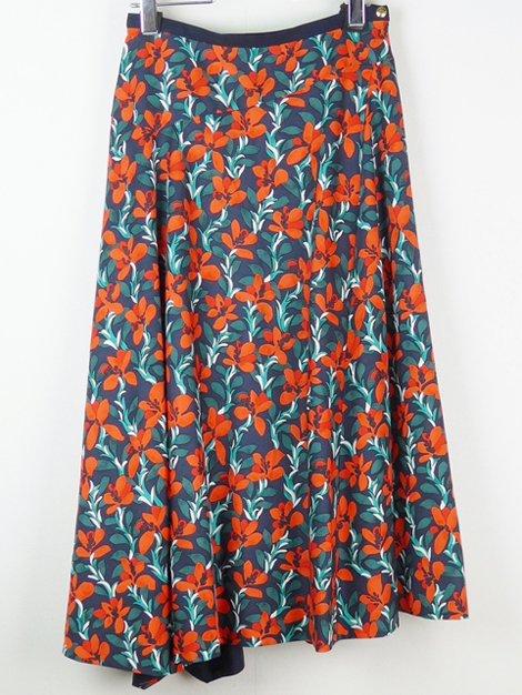 18AW フラワープリントフレアスカート