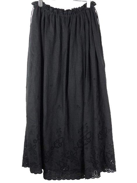 18SS エンブロイダリーロングスカート